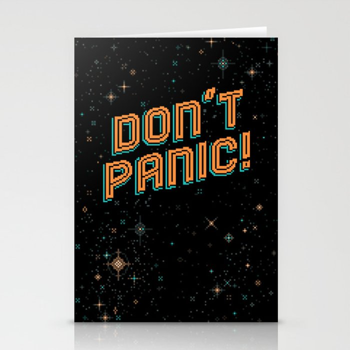 Don't Panic! Pixel Art Stationery Cards