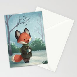 Fox in Winter Stationery Cards