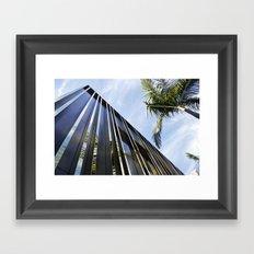 Palm Trees and Chrome Framed Art Print