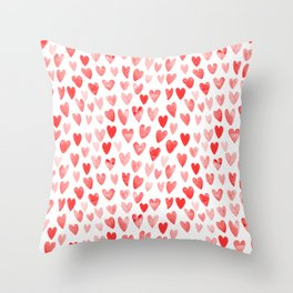 Watercolor heart pattern perfect gift to say i love you on valentines day Throw Pillow