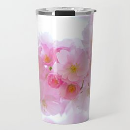 Closeup of a Blossoming Japanese Cherry Tree Travel Mug