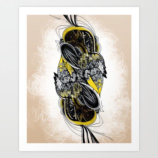 Bird sleeping Art Print