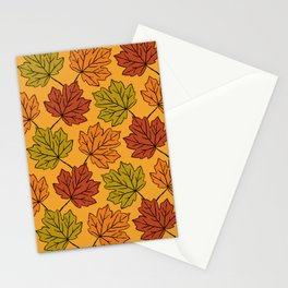 Maple Leaves Pattern Stationery Cards