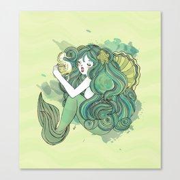 Mermaid Green Canvas Print