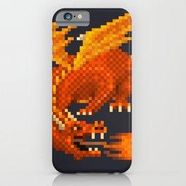 Pixel Fiery Dragon iPhone Case
