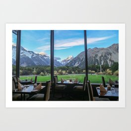 Dinner by the Mountains Art Print