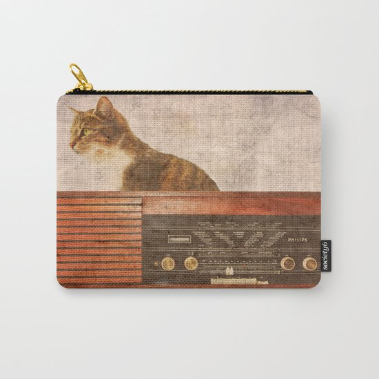 The Cat and the Radio Carry-All Pouch