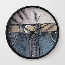 Blue jeans Wall Clock
