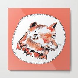 Bearded Fox  Metal Print
