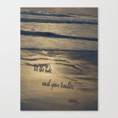 Golden Tide Canvas Print