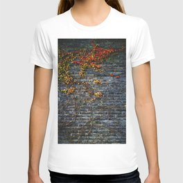 Vines on a Brick Wall (Color) T-shirt