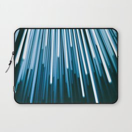 Hyperspace Fiber Optics Blue white Streaks Of Light Laptop Sleeve