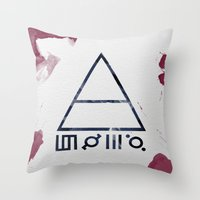 30 seconds to mars Throw Pillows featuring 30 Seconds of Mars Watercolor by sky0323