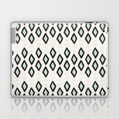 Bohemian Diamonds - Dark gray, light blue and cream pattern Laptop & iPad Skin