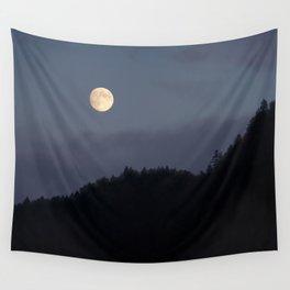 Moon over Hill #nature #buyartprints #minimalism #society6 Wall Tapestry