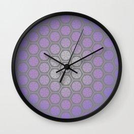 Hexagonal Dreams - Purple Blue Gradient Wall Clock