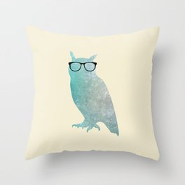 Hipster Owl Throw Pillow