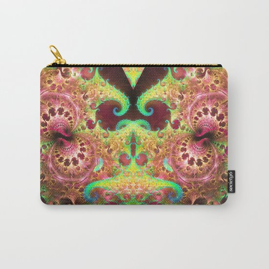 Groovy abstract with spiral patterns Carry-All Pouch
