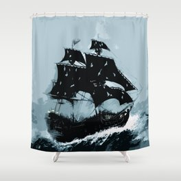Pirate in Storm Shower Curtain
