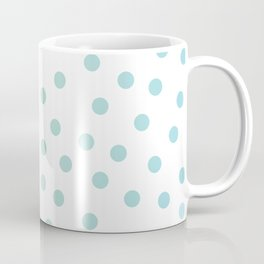 Simply Dots in Turquoise Green Blue Gradient on White Coffee Mug
