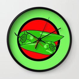 NO GREEN CHILLI PEPPER Wall Clock
