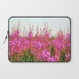 Field of lupins and wildflowers on Brier Island, Nova Scotia Laptop Sleeve