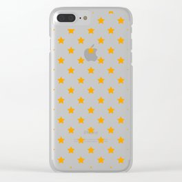 Small orange stars in rows. Clear iPhone Case