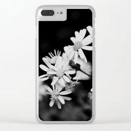 Mini Wildflowers B&W Clear iPhone Case