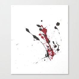 A bottle falls... Canvas Print