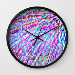 colorful pixels Wall Clock