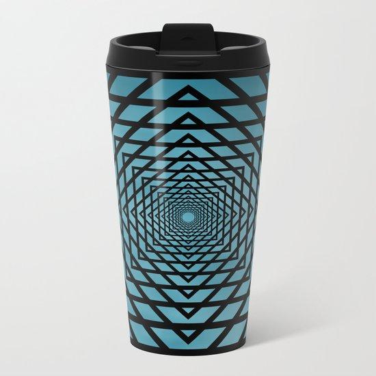 Eternally Blue Metal Travel Mug