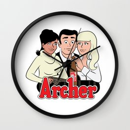 Archer Comics Wall Clock