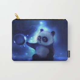 Panda and Bubbles Carry-All Pouch