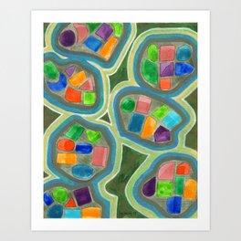Jewel Nests Pattern Art Print