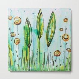 Underwater Trees Metal Print