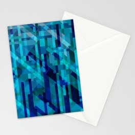abstract composition in blues Stationery Cards