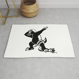 Dabbing Honey badger Rug