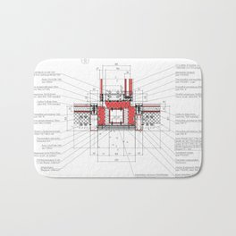 Real architectural detailed knot Bath Mat