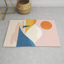 Abstraction_Lake_Sunset_Minimalism_002 Rug