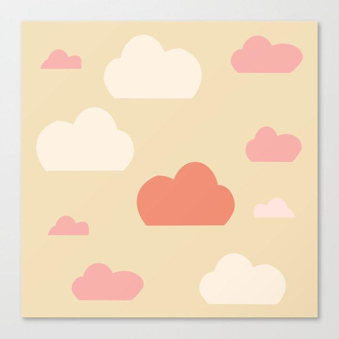 Cloud pink Canvas Print