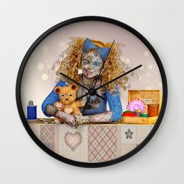 Polly Patchwork's Sewing Company Wall Clock