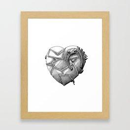 Iron Heart Framed Art Print