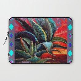 PUCE GREY ART DECO SOUTHWEST DESERT AGAVE Laptop Sleeve