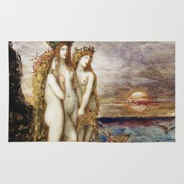 Gustave Moreau - The Sirens Rug