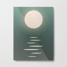 Ocean Moon: Tranquil Night  Metal Print