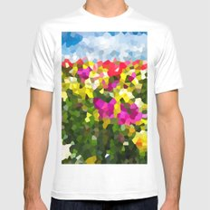 Spring Dreams MEDIUM White Mens Fitted Tee