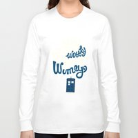 risa rodil Long Sleeve T-shirts featuring Wibbly Wobbly Timey Wimey by Risa Rodil