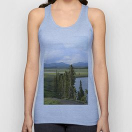 Yellowstone River Valley View Unisex Tank Top