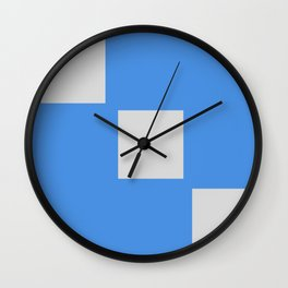 Blue Squares 1:29pm 9/21 Wall Clock