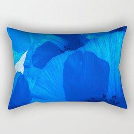 Blue Poppies #decor #society6 #buyart Rectangular Pillow
